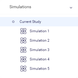 Simulations information in the tree